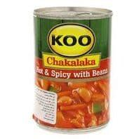 Koo Chakalaka Hot & Spicy with Beans - 410g