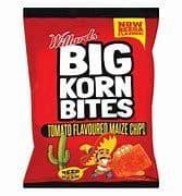 Willards Big Korn Bites - Tomato - 120g