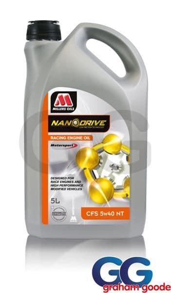 5w40 CFS Millers Nanodrive Technology NT 5L Engine Oil Nanotech Motorsport & Competition