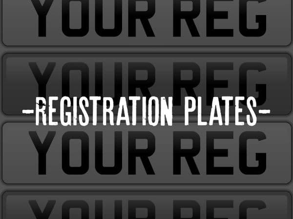 Car Registration Number Plates Made on Site Front or Rear
