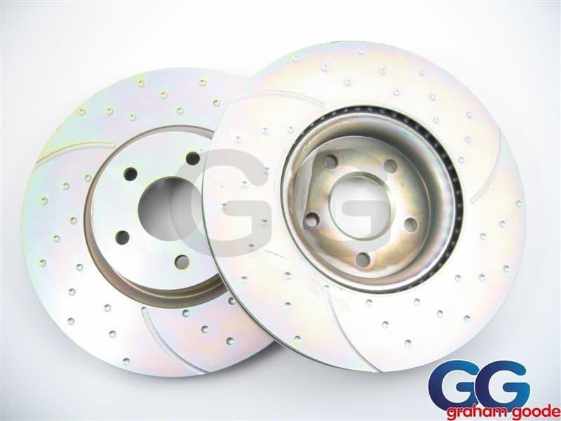 Front Brake Discs 294mm x2 Impreza WRX STi 98 on EBC Turbo Grooved Uprated Subaru 4 Pot GD972