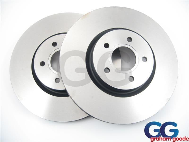 Front Brake Discs 326mm x2 Impreza WRX STi 2001> New Age Brembo Caliper 114PCD GGS1587