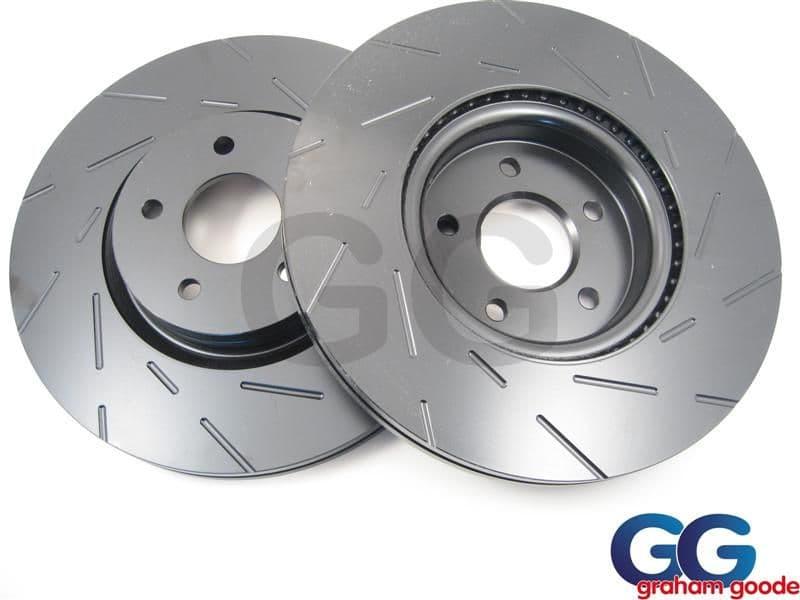 Front EBC Brake Discs Impreza Newage Brembo Calipers 2002-2005 100PCD Uprated Grooved USR1056