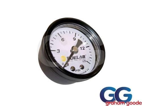 Fuelab Carbureted Fuel Pressure Gauge 0-15 PSI 0-1 Bar 1/8 NPTF    71512