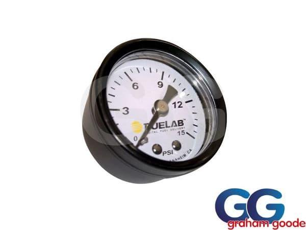 Fuelab Carbureted Fuel Pressure Gauge 0-15 PSI 1.5