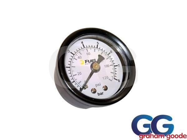 Fuelab EFI Fuel Pressure Gauge Dual 0-120 PSI 0-8 Bar 1.5