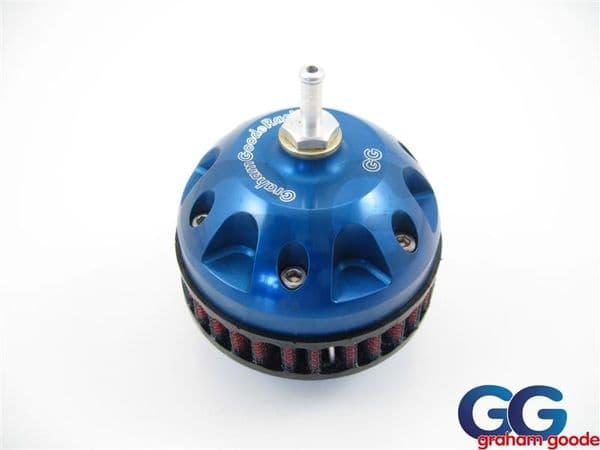 GGR Double Piston CNC Machined Dump Valve Blue GGS798BL
