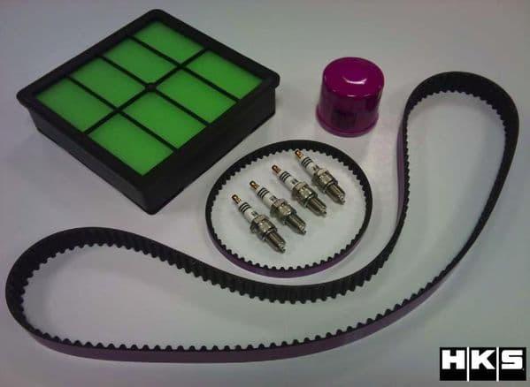 HKS Service Kit Impreza Classic Oil Filter Air Filter Timing Belt & Spark Plugs KIT-SRVC-AF001