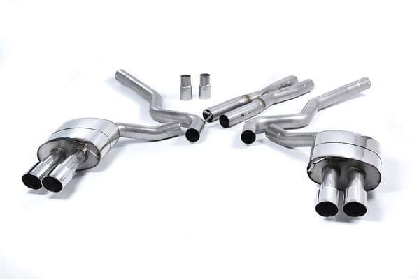 Milltek Cat Back Quad Exhaust Non Resonated (Louder) Roush Rear Valance | Ford Mustang 5.0 V8
