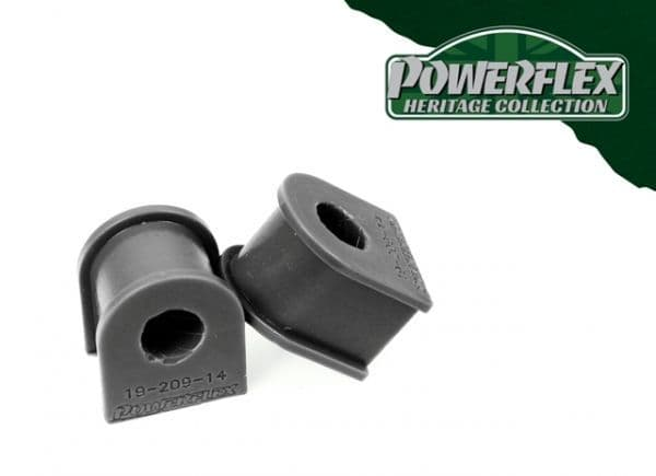 Powerflex Rear Anti Roll Bar Mounting Bushes 14mm X2 | Ford Sierra Cosworth 2WD 3 Door | Heritage