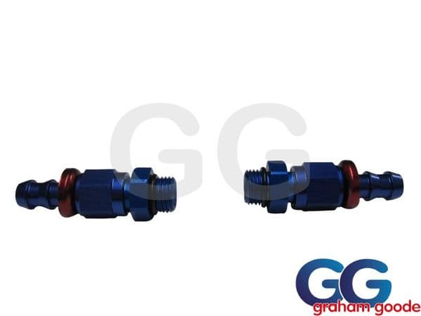 Push on Male - Male -6JIC Fuel Pressure Regulator Fitting Kit X2 536-0106 AN920-06