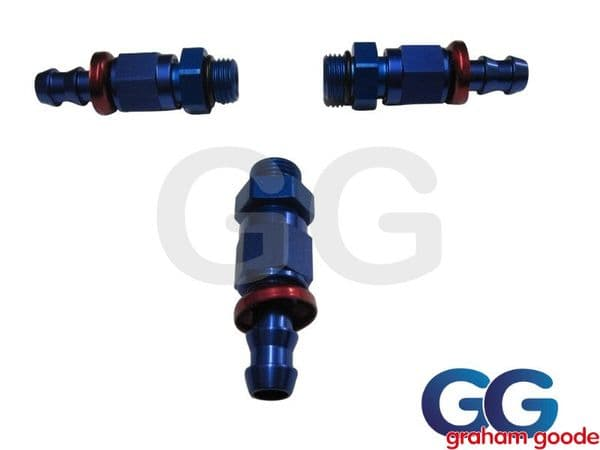 Push on Male - Male -6JIC Fuel Pressure Regulator Fitting Kit X3 536-0106 AN920-06