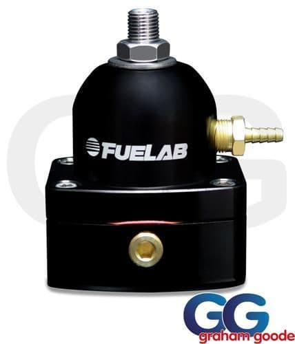 Fuelab Mini Fuel Pressure Regulator Black 535 Twin -6AN Inlet EFI 53501-1