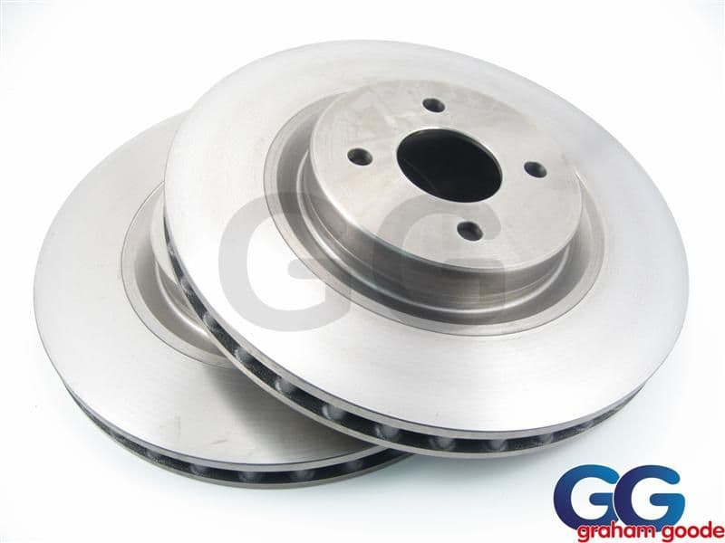 TRW Standard Front Brake Discs X2 | Ford Focus RS MK1