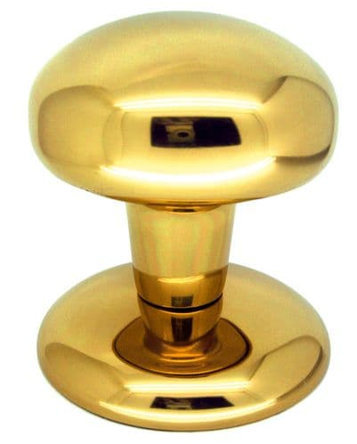 Bendio Center Door Knobs - Polsihed Brass Finish