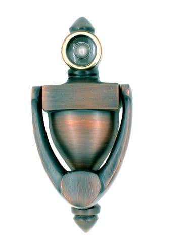 Mondoe Door Knockers with Door Viewer - Copper Oxide Finish