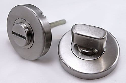 OVO Bathroom Thumb Turn & Release Set - Satin Stainless Steel