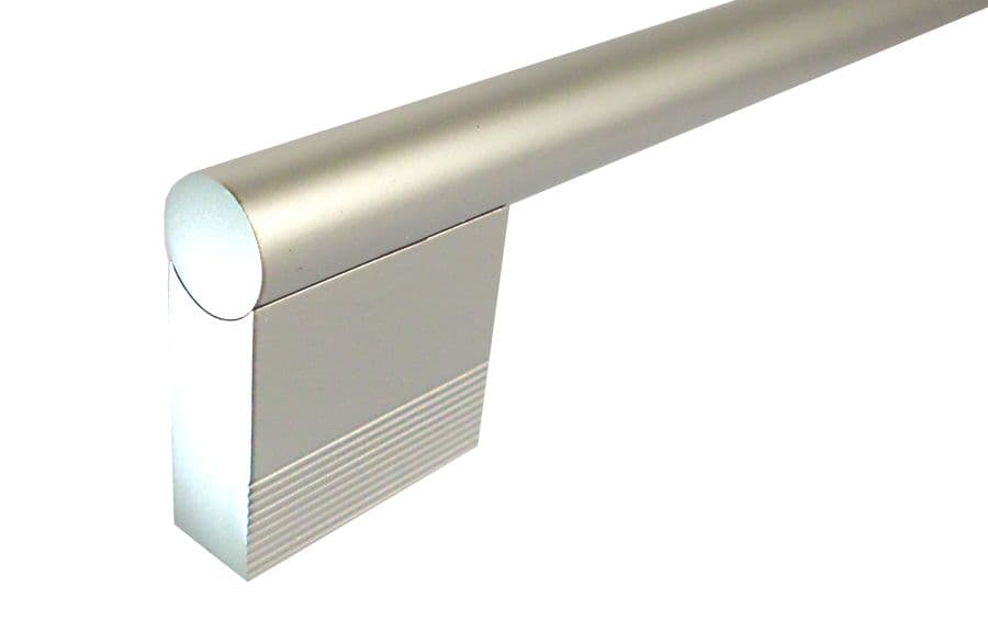 OVO® K099 Solid Satin Chrome/Aluminium Finish Pull Handles - 168mm total length with 128mm C2C