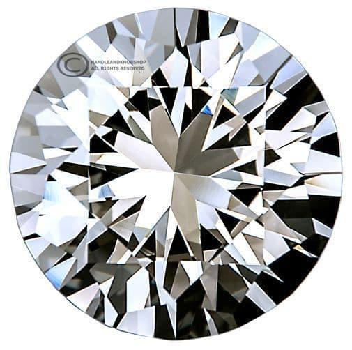 OVO® TEZ® Dali 30mm Clear Diamond Cut Crystal Knob Handle - Silver Glazed