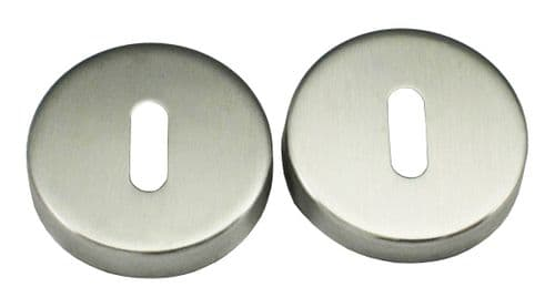 Satin Stainless Steel Keyhole Covers Escutcheons