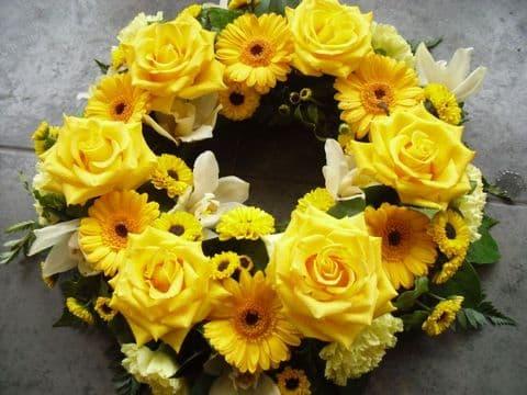 Bright Yellow Wreath