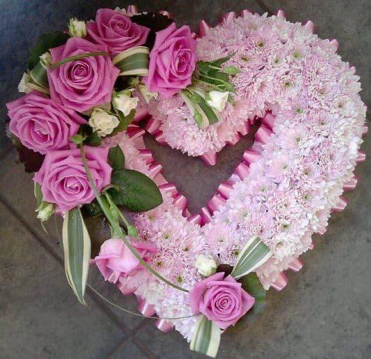 Pink Open Heart
