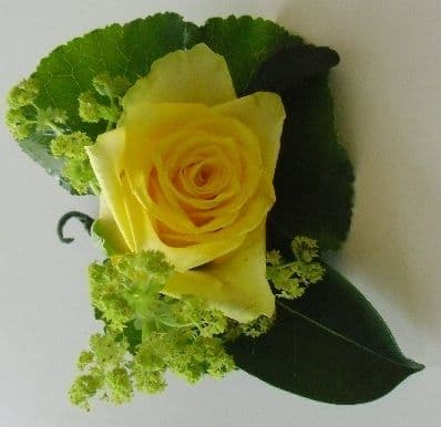 Single Yellow Roses Buttonhole
