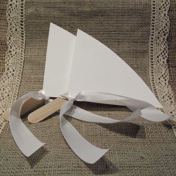 Φτιάξτο Μόνος Κιτ για Χάρτινες Εκρού Βεντάλιες Συσκ. 30 τμχ. / DIY kit for Ivory Paper Hand Fans Pack of 30