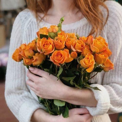 Μπουκετο με πολυανθή τριαντάφυλλα