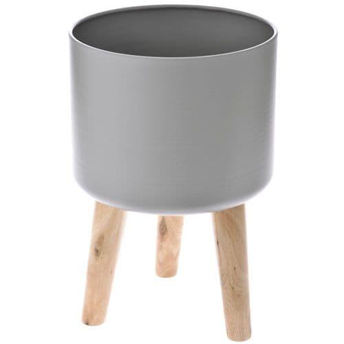 Κεραμικό κασπό στρογγυλό με πόδια 28Χ42εκ