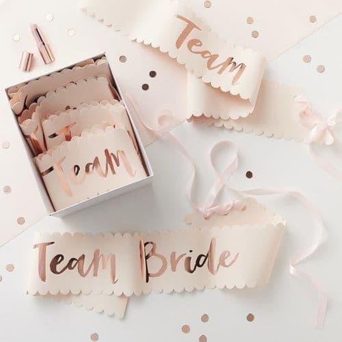 Κορδελες Team Bride! Σετ των 6