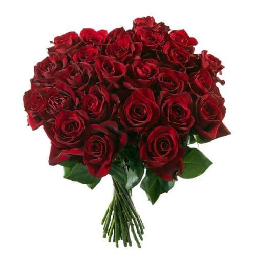 Bouquet of 10 big Red roses / Μπουκετο με 10 μεγαλα κοκκινα τριανταφυλλα