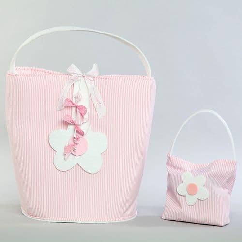 Christening bag / Changing mat flower - Τσάντα βάπτισης / αλλαξιέρα λουλούδι