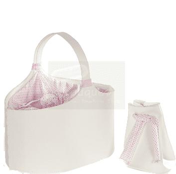 Christening box basket / Τσάντα βάπτισης καλάθι με ύφσμα
