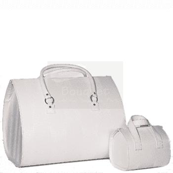 Christening box oval striped , τσάντα βάπτισης βαλίτσα οβάλ ριγέ