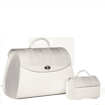 Christening box oval stripes / τσάντα βάπτισης βαλίτσα οβάλ ρίγες