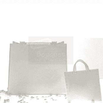 Christening white bag / Άσπρη τσόχινη τσάντα βάπτισης