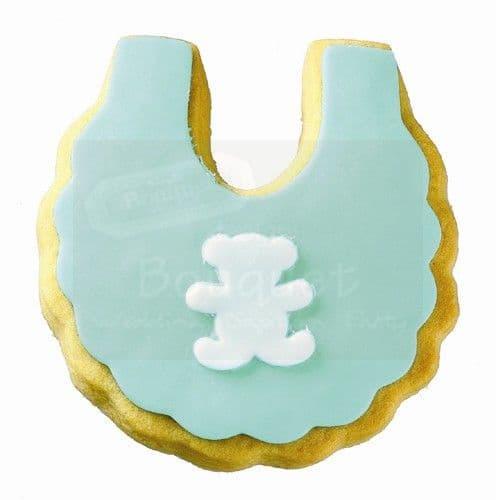Cookie bib with teddy bear / Μπισκότο σαλιάρα με αρκουδάκι