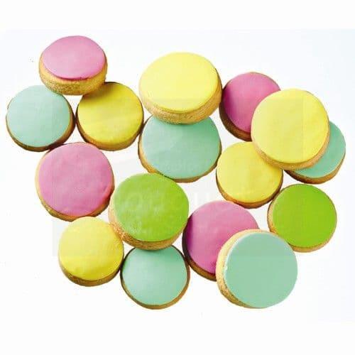 Cookie bites multicolored per kilo / Μπισκότα στρόγγυλα μπουκίτσες πολύχρωμα του κιλού