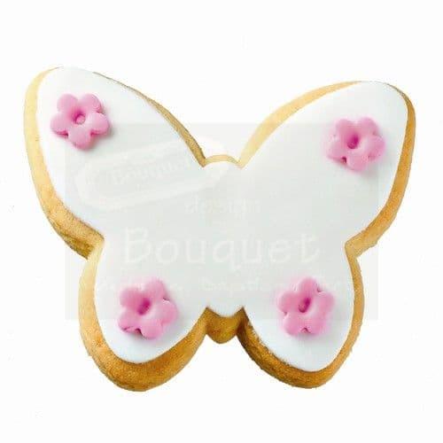 Cookie butterfly with flowers / Μπισκότο πεταλούδα λουλουδάκια