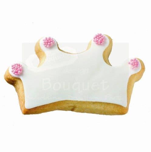 Cookie crown small nonpareil - Μπισκότο κορώνα μικρή κας-κας