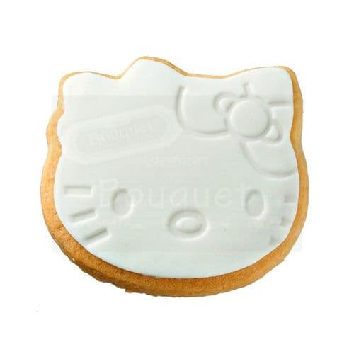 Cookie hello kitty with embossed face / Μπισκότο hello kitty με ανάγλυφo πρόσωπο
