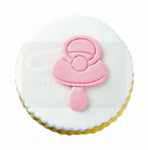 Cookie round with baby's dummy / Μπισκότο στρόγγυλο με πιπίλα