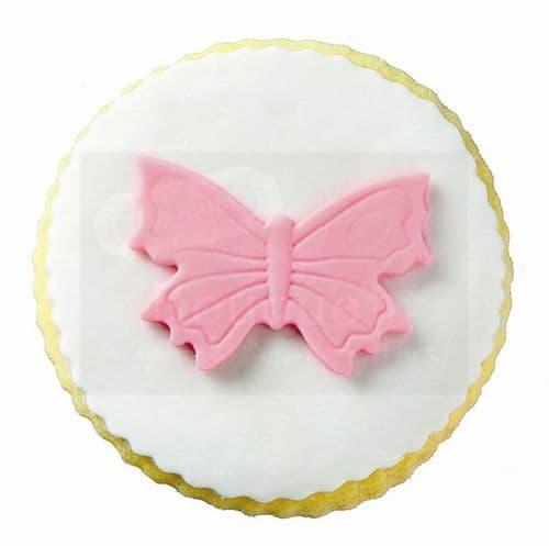 Cookie round with butterfly / Μπισκότο στρόγγυλο με πεταλούδα