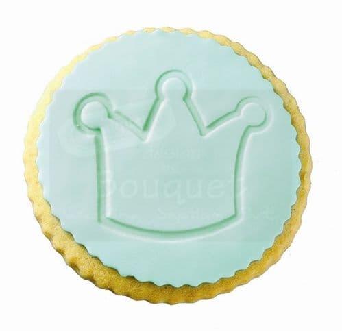 Cookie round with embossed crown / Μπισκότο στρόγγυλο με ανάγλυφη κορώνα