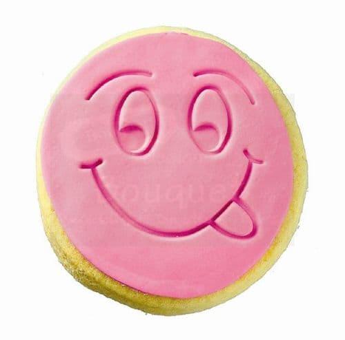 Cookie round with embossed smiley face / Μπισκότο στρόγγυλο με ανάγλυφη χαμογελαστή φατσούλα