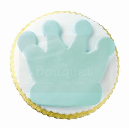 Cookie round with large crown / Μπισκότο στρόγγυλο με μεγάλη κορώνα