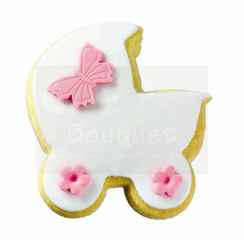 Cookie trolley with butterfly / Μπισκότο καρότσι με πεταλούδα