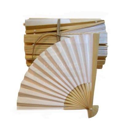 Fans of wood and paper Pack of 50 / Βεντάλιες απο ξύλο και χαρτί Συσκ. 50τμχ.