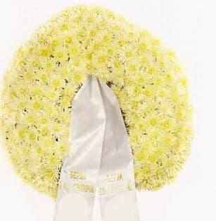 Funeral wreath - Chrysanthemums
